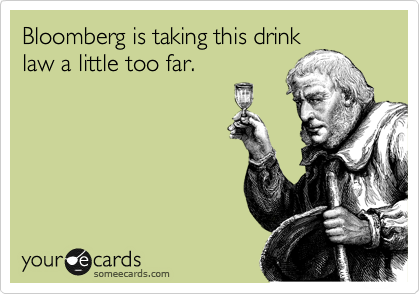 Bloomberg is taking this drink
