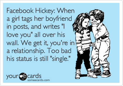 boyfriend facebook status says single