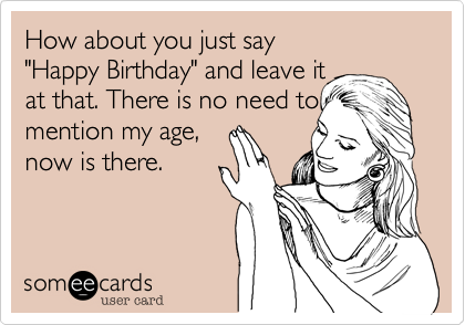How about you just say 