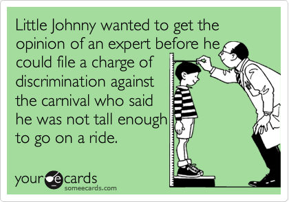 Little Johnny wanted to get the opinion of an expert before he