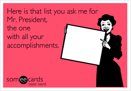Here is that list you me for
