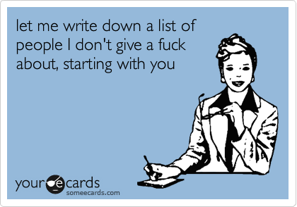 let me write down a list of