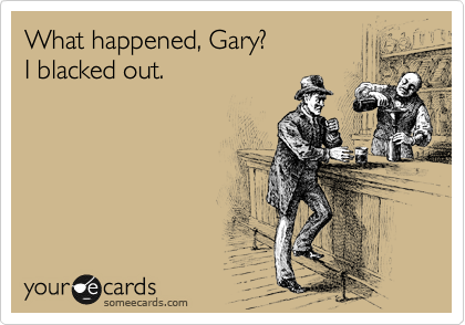 What happened, Gary? 