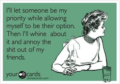 I'll let someone be my
