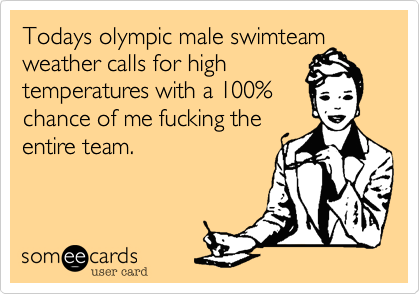 Todays olympic male swimteam