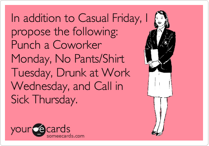 Gallery Thursday Work EcardYour Ecards Work Thursday