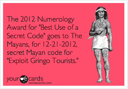 The 2012 Numerology