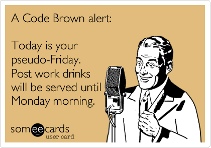 A Code Brown alert%3A