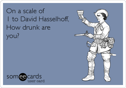 On a scale of 1 to David Hasselhoff, How drunk are you?