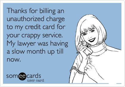 Thanks for billing an