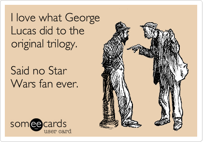 I love what George