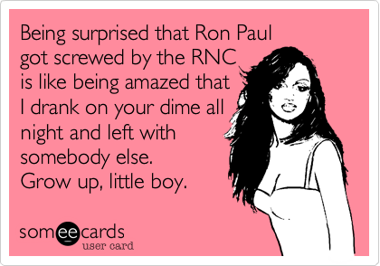 Being surprised that Ron Paul