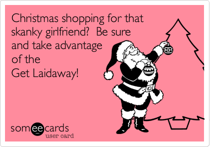 Christmas shopping for that
