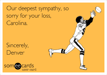 Our deepest sympathy, so sorry for your loss, Carolina.   Sincerely, Denver