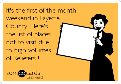 It's the first of the month