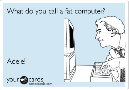 What do you call a fat computer?