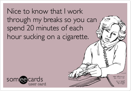 Nice to know that I work