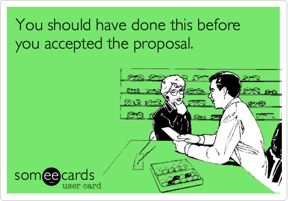 You should have done this before you accepted the proposal.