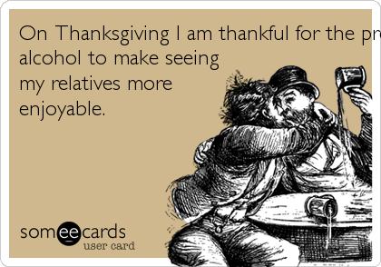 On Thanksgiving I am thankful for the presence of