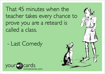 That 45 minutes when the