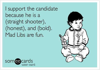 I support the candidate