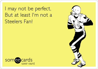I may not be perfect, But at least I'm not a Steelers Fan!