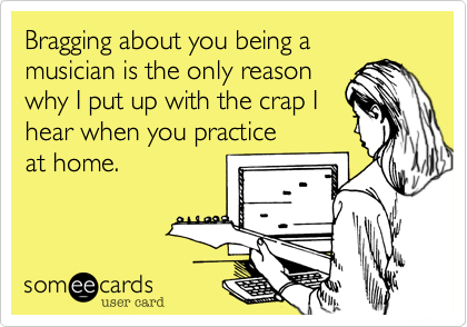 Bragging about you being a 