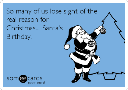 So many of us lose sight of the real reason for Christmas.