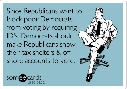 Since Republicans want to