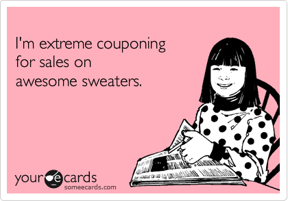 I'm extreme couponing