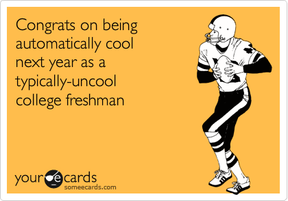 Congrats on being