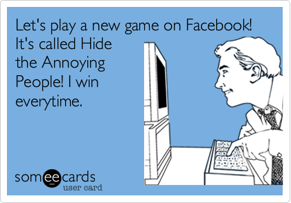 Let's play a new game on Facebook! It's called Hide