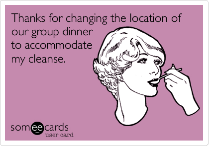 Thanks for changing the location of our group dinner