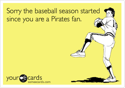 Sorry the baseball season started