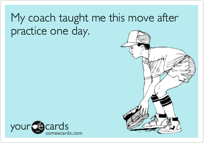 My coach taught me this move after practice one day.