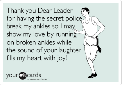 Thank you Dear Leader