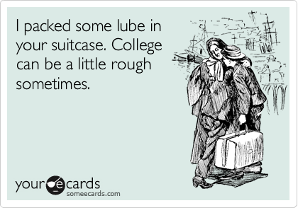 I packed some lube in