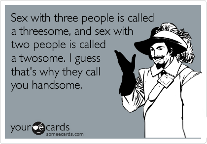 Sex with three people is called