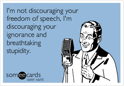 I'm not discouraging your 