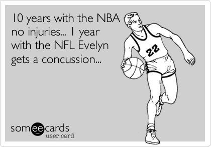 10 years with the NBA
