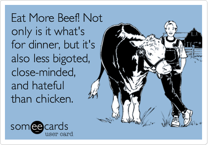 Eat More Beef! Not