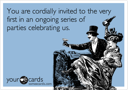 You are cordially invited to the very first in an ongoing series of