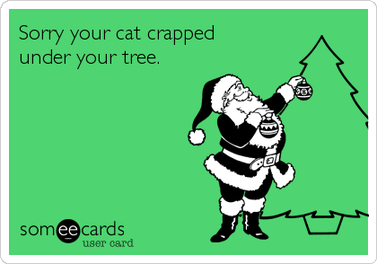 Sorry your cat crapped  under your tree.
