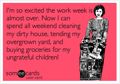 I'm so excited the work week is