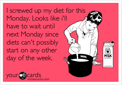 I screwed up my diet for this