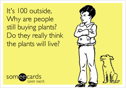 It's 100 outside,