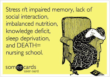 Stress r/t impaired memory%2C lack of social interaction%2C 