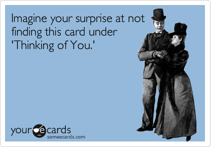 Imagine your surprise at not