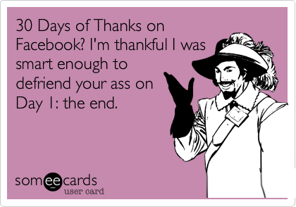 30 Days of Thanks on