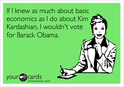 If I knew as much about basic economics as I do about Kim